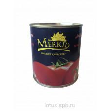 Паста томатная 28% ГОСТ 790г Меркид (Уп.12шт)