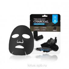 3W CLINIC Тканевая маска для лица с древесным углем