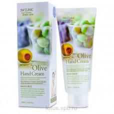 3W CLINIC Увлажняющий крем для рук с экстрактом оливы