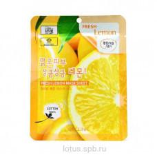 3W CLINIC Тканевая маска для лица с экстрактом лимона