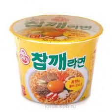 """Лапша б/п """"Sesame Ramen"""" c говядяиной и кунжутом 110гр Корея"""