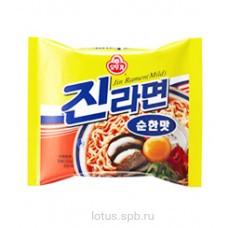 """Лапша б/п со вкусом грибов """"Jin Ramen (Mild)"""" Ottogi 120гр Корея"""
