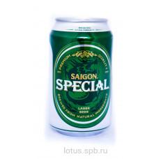 Пиво светлое, фильтрованное, пастеризованное, тм «Сайгон Спешл» в ж/б