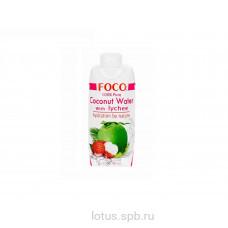 """Кокосовая вода с соком личи """"FOCO"""" 330мл Tetra Pak"""